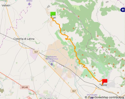 Via Francigena del Sud Sezze-Cori