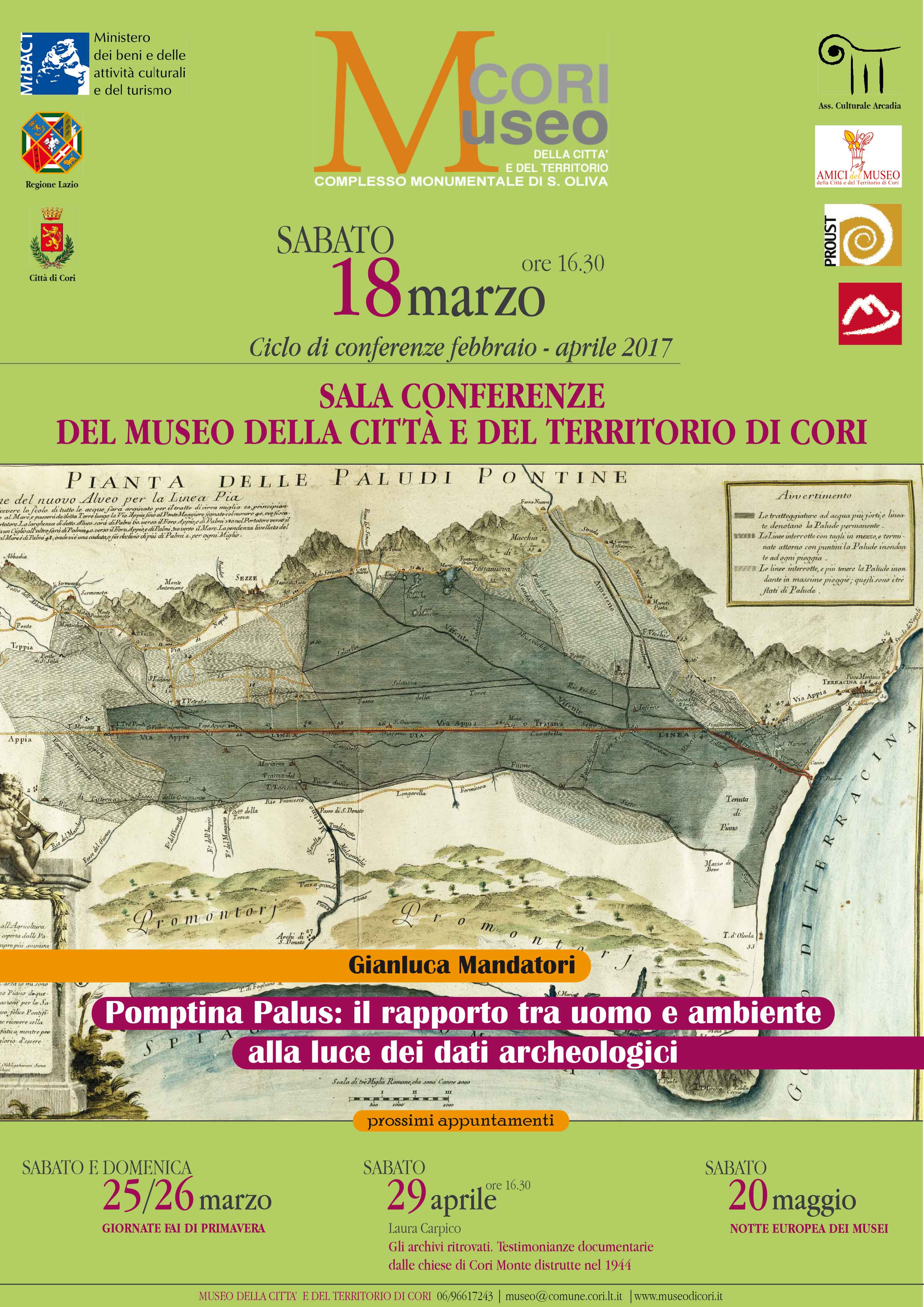 Conferenza Paludi Pontine Museo di Cori